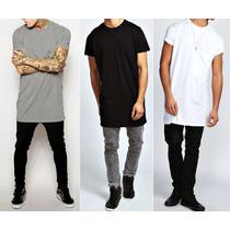 Camiseta Oversized Swag Masculina Longline Hip Hop Camisa