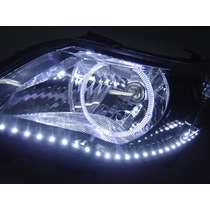 Farol Vw Gol G5 Saveiro Voyage Angel Eyes, Led´s R8 Mascara