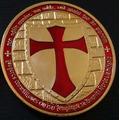 Moeda Em Alusão Aos Cavaleiros Templários-banho De Ouro 24k