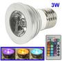 Lampada Super Led Rgb 3w E27 110~220v Bivolt Controle Remoto