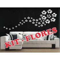 Adesivo Decorativo P/ Ambiente E Parede - Kit 40 Flores