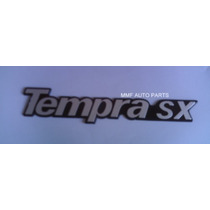 Emblema Tempra Sx (prata Com Fundo Preto) - Mmf Auto Parts