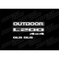 Emblemas Da L200 Outdoor Resinados