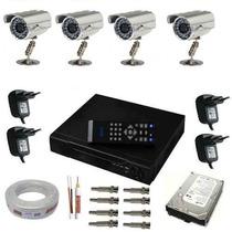 Sistema De Monitoramento 4 Câmeras Infra Gravadordigital Dvr