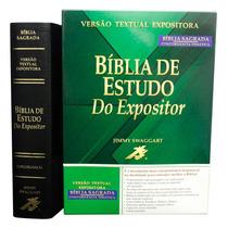 Bíblia De Estudo Do Expositor Grande Cor Preta Capa Em Couro