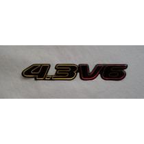 Emblema Resinado 4.3 V6 Blazer/s10 2001acima Linha Gm