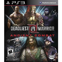 Deadliest Warrior Ancient Combat Ps3 Novo Original Lacrado
