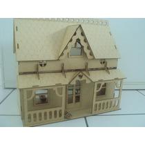 Casa De Boneca + 33 Móveis + Frete Grátis