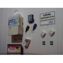 Kit Alarme Residencial Bateria Selada Sensores Discadora Gsm
