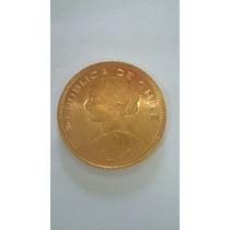 Moeda De Ouro Maciço 22k República Do Chile 1947 Cien Pesos
