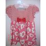 Vestido Turma Da Malha - Tam 1 - Rosa E Vermelho Com Glitter
