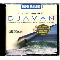 Cd Homenagem A Djavan O Piano De Luiz Avelar - Raro