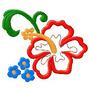 B12 Coleção Bordados Computadorizados Aplique Flores Diverso