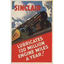 Lubrificantes Trem Ferro Sinclair Poster Repro