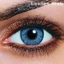 Lente De Contato Colorida Azul Validade 2019 Estojo E Frete
