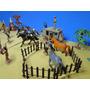 41 Peças Forte Apache Indios Cowboys Diligencia Totem Cavalo