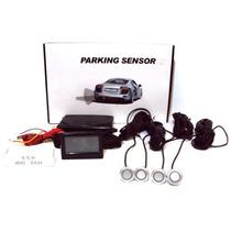 Sensor De Estacionamento Lcd 4 Pontos - Prata