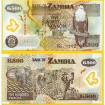 Zâmbia 500 Kwacha 2011 P. 43h Fe Cédula Belíssima Polímero