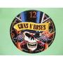 Relógio De Parede Em Disco De Vinil Guns N