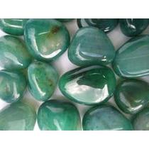 Frete Gratis Agata Verde Pedra Rolada 10 Pçs 15,00