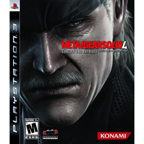Metal Gear Solid 4: Guns Of The Patriots Ps3.