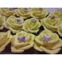 Rosas,biscuit Feita À Mao 4à5cm,casamentos,15anos,artezanato