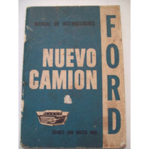 Manual Original Pickup Ford F100 Caminhões F-350 F-500 F-600