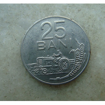 5483 Republica Socialista Romenia 25 Bani, 1966, Inox, 22mm