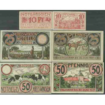 Germany Alemanha Winsen L-1397 S/fe 3 Notgelds 1921 * Q J *