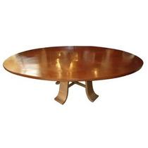 Mesa Oval Com Pé De Ferro - Cod. 20555