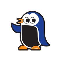 Lousinha Lousa Em Forma De Pinguin Infantil Giz Apagador