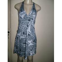 Vn001 - Vestido Estampado De Liganete Manequim U Preto/cinza