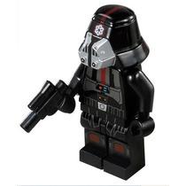 Boneco Lego Sith Trooper Preto Clone Star Wars Com Arma