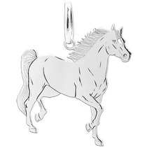 Pingente Prata Cavalo Cortado Cavalinho Laser Frete Gratis