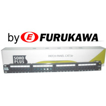 Patch Panel 24 Portas Cat5e Furukawa Rack 19 C/ Nf Garantia