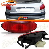 Lanterna Neblina Parachoque Traseiro Peugeot 206 Original