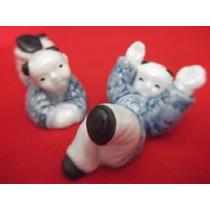 B. Antigo - Casal De Bonecos Japoneses Em Porcelana