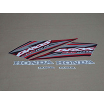 Kit Adesivos Honda Nxr125 Ks Bros 2005 Vermelha - Decalx