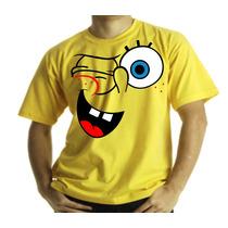 Camiseta Adulto Ou Infantil Bob Esponja Pisca