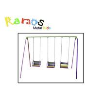 Balanço Infantil Cadeirinha 03 Lugares Corrente - Brinquedo