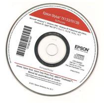 Cd De Instalação Para Impressora Epson Stylus Tx133/tx135.