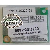 Placa Modem Mini Pci Do Notebook Semp Tosnhiba Sti 1462