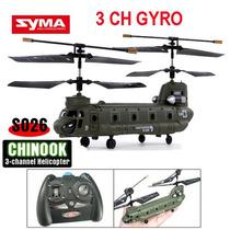Helicoptero Militar Chinook R/c S026g 3 Ch - Frete Grátis