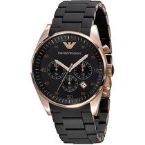 Relógio Emporio Armani Ar5905 Preto Rose Original E Garantia