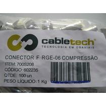 Kit 100 Conectores De Pressão Rg6 Original Banda Ku E Cabo