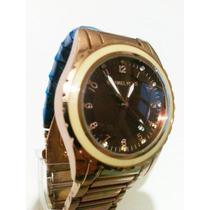 Relógio Feminino Dourado Envelhecido! ***modelo Novo