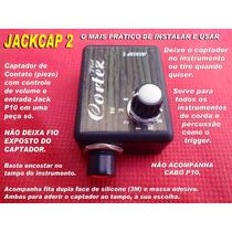Captador Flat Cortez Mod. Jackcap 2 Pro C/ Controle De Volum