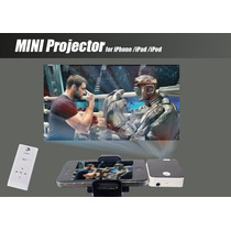 Mini Projetor Portátil C/ Controle Remoto D Bolso P Iphone4