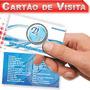 Cartão De Visita R$89,90 Verniz Localizado Laminação Fosca
