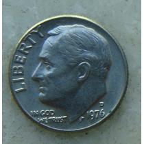 329 - Usa One Dime Liberty 1976, Letra D - Tocha 18mm